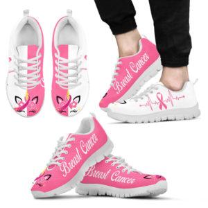 BREAST CANCER UNICORN HB PINK WHITE@ fightcancerpro breatscancerunicornpw52322@sneakers 58993