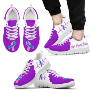 Fight Thyroid Cancer purple white kd@ fightcancerpro fightthyroidcancerpw7363@sneakers 58048