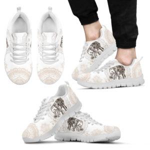 Elephant: Beauty Sneakers@ dsk custom elephant whiteshoes@sneakers 53704