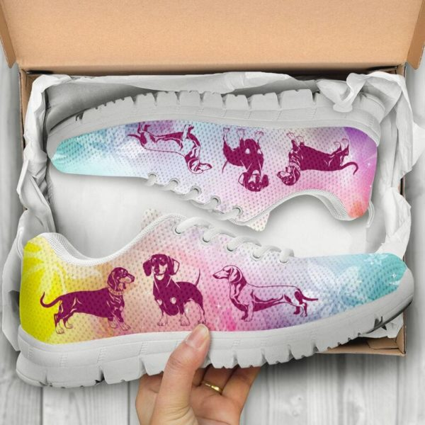 DACHSHUND DOG FLOWER SHOES@-animalaholic-cas3ca@sneakers 34159
