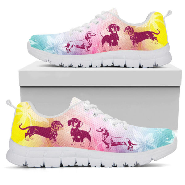 DACHSHUND DOG FLOWER SHOES@-animalaholic-cas3ca@sneakers 34158
