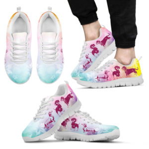 DACHSHUND DOG FLOWER SHOES@-animalaholic-cas3ca@sneakers 34155