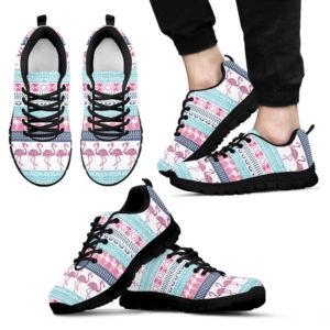 FLAMINGO PATTERN VT SHOES@ animalaholic flamingopatternvt0452@sneakers 25412