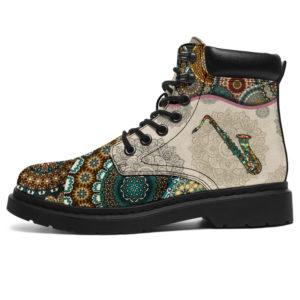 "Saxophone - Vintage Mandala ASBOOT SKY 2@ springlifepro FGDF@all-season-boots"" 310685"