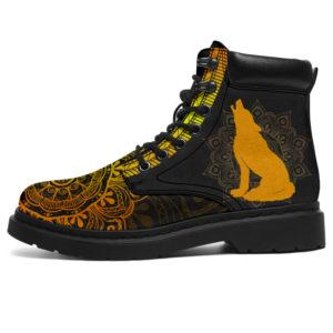"""Wolf Mandala Boots@ limiteditionshoes wolf mandala boots@all-season-boots"""" 310639"""
