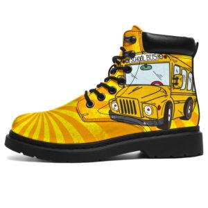 "SCHOOL BUS SPIRALE BOOTS@ proudteaching schoolbusspi944@all-season-boots"" 309075"
