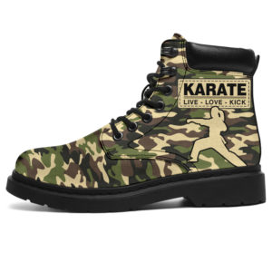 "KARATE LIVE LOVE CAMOU BOOTS@ springlifepro karatecam093@all-season-boots"" 308293"