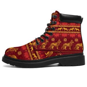 "TH 7 German Shepherd Golden Mandala Season Boots@ shoesnp th 7 german shepherd golden mandala season boots@all-season-boots"" 307925"
