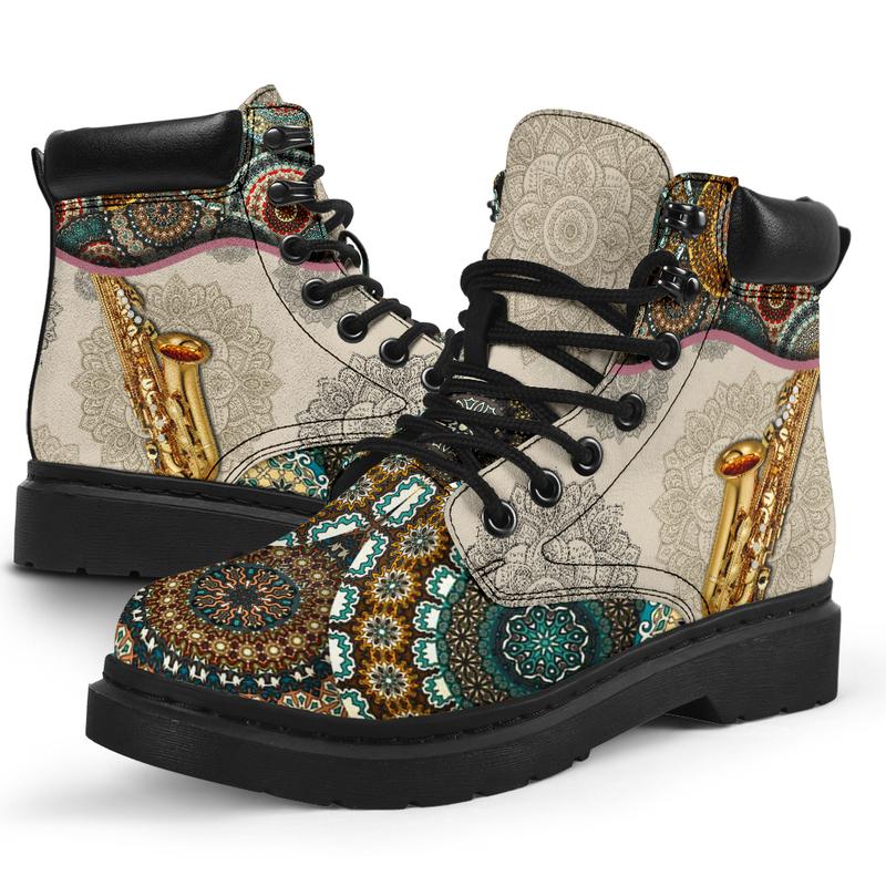 "Saxophone - Vintage Mandala ASBOOT SKY@ springlifepro fgdfg@all-season-boots"" 306916"
