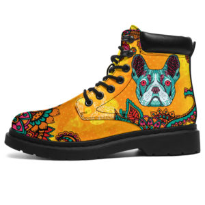 "Bulldog Mandala@ bonloves bulldog mandala@all-season-boots"" 306039"