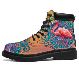 "dt-8 Flamingo water color season boots@ shoesnp dt 8 Flamingo water color season boots@all-season-boots"" 305487"