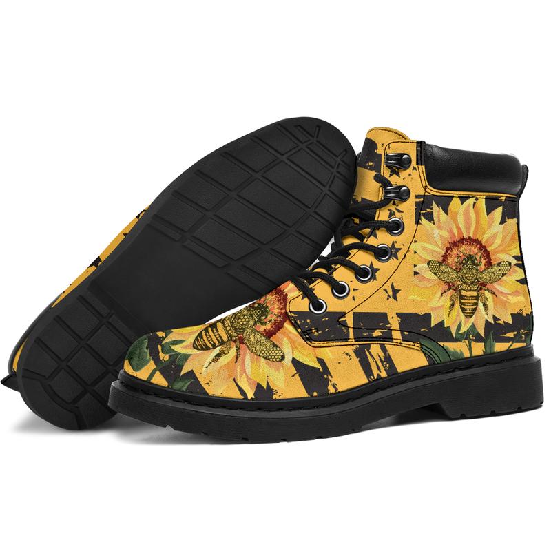"Bee and Sunflower@ bonloves bee sunflower 21717@all-season-boots"" 305213"
