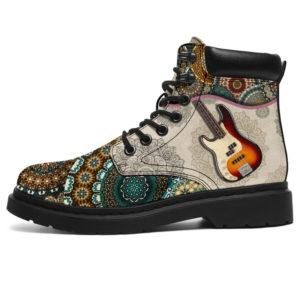 "Guitar Bass - Vintage Mandala ASBOOT SKY KD@ springlifepro FHDFH@all-season-boots"" 303739"