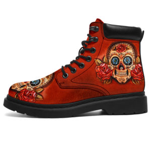 "Love Skull All Season Boots@ bonloves skull001@all-season-boots"" 303186"