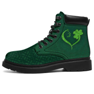 "CAT SHAMROCK ST PATRICK'S DAY ALL SEASON BOOTS@ bonloves cat ab 08113@all-season-boots"" 302680"