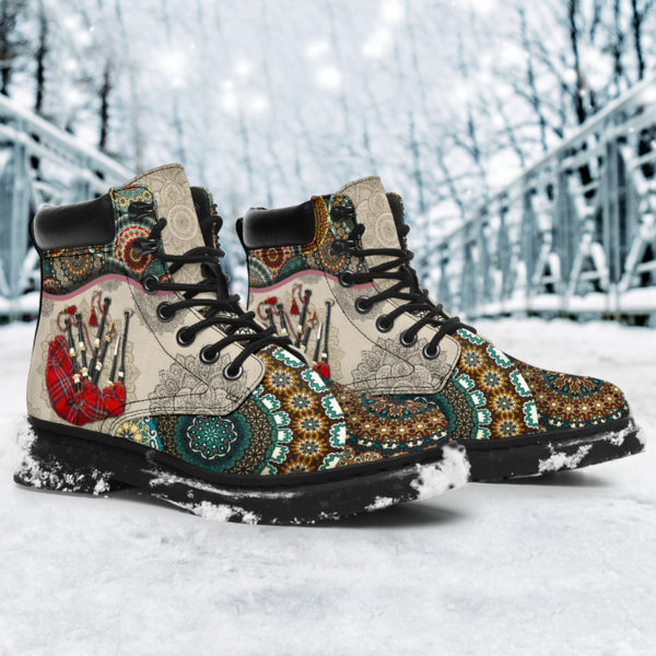 "Bagpipes - Vintage Mandala ASBOOT SKY KD@ springlifepro SDFDSG@all-season-boots"" 302225"