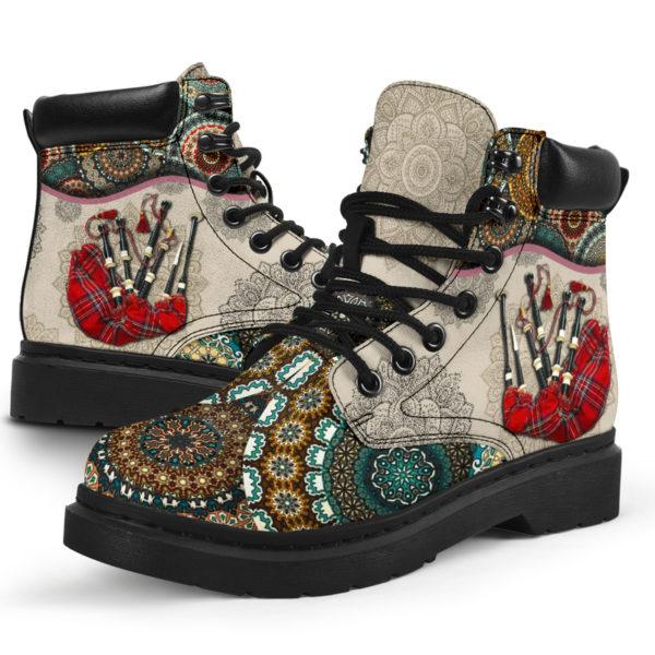 "Bagpipes - Vintage Mandala ASBOOT SKY KD@ springlifepro SDFDSG@all-season-boots"" 302223"