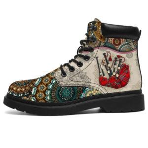 "Bagpipes - Vintage Mandala ASBOOT SKY KD@ springlifepro SDFDSG@all-season-boots"" 302220"