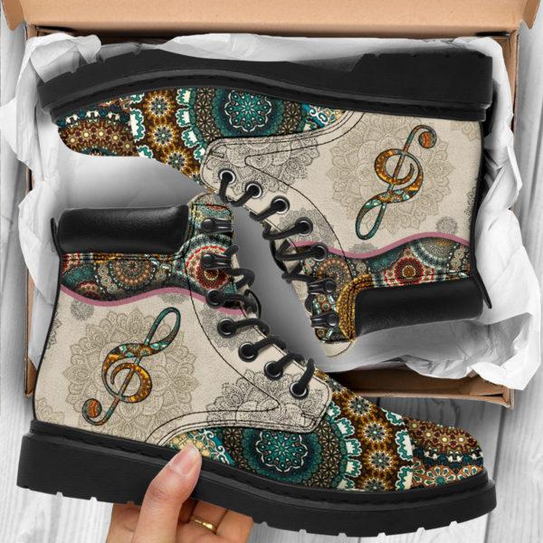 "Music - Vintage Mandala ASBOOT SKY 2@ springlifepro fhfghfh@all-season-boots"" 300894"