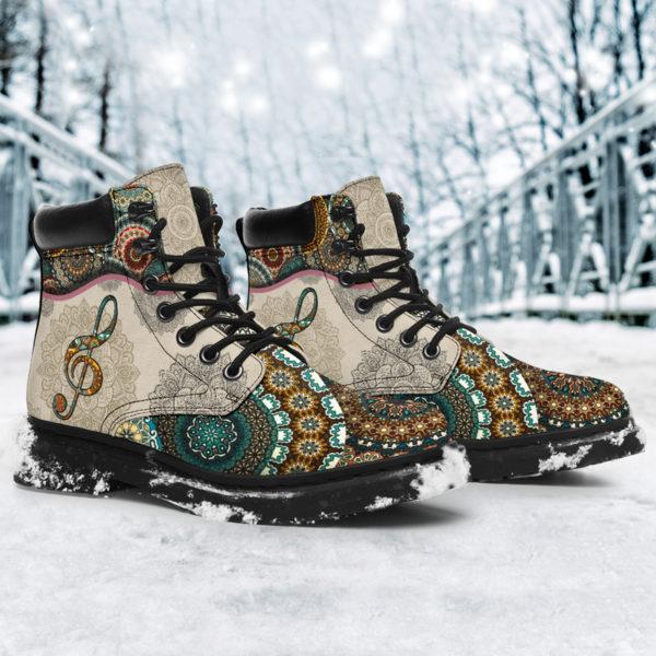 "Music - Vintage Mandala ASBOOT SKY 2@ springlifepro fhfghfh@all-season-boots"" 300891"
