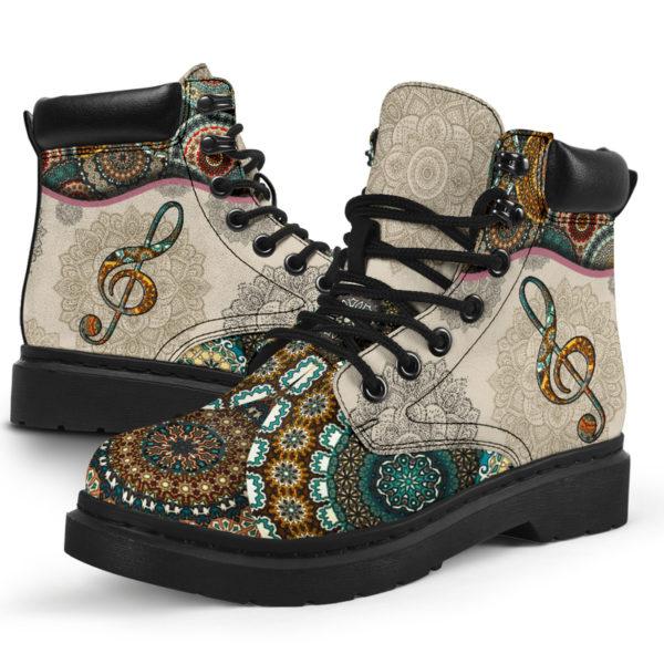 "Music - Vintage Mandala ASBOOT SKY 2@ springlifepro fhfghfh@all-season-boots"" 300889"