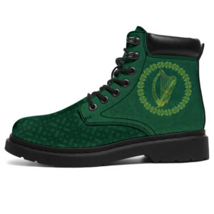 "Harp Shamrock St. Patrick's Day All Season Boots 07@ bonloves all boots 113@all-season-boots"" 300242"