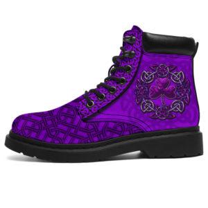 "Irish Celtic Shamrock purple ASBOOTS@ springlifepro Irish4654@all-season-boots"" 300196"