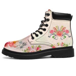 "HAIR STYLIST WATERCOLOR FLOWER SS BOOT@ springlifepro hairwat8478@all-season-boots"" 298862"