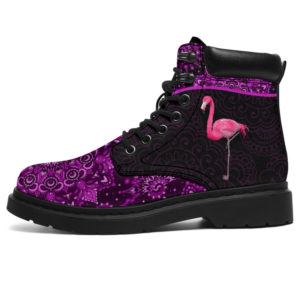 "dt-10 Flamingo pink pattern native season boots@ shoesnp dt 10 Flamingo pink pattern native season boots@all-season-boots"" 297712"