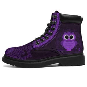 """Owl mandala asboots purple@ animallovepro Owl758484@all-season-boots"""" 297390"""