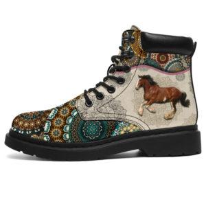 "Draft Horse - Vintage Mandala ASBOOT SKY KD@ animallovepro CGDFXGSFR@all-season-boots"" 297114"
