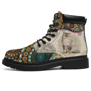 "Persian cat - Vintage Mandala ASBOOT SKY@ animallovepro dsgdhg@all-season-boots"" 296838"