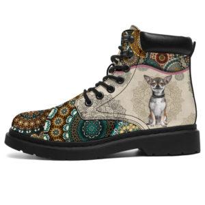 """Chihuahua - Vintage Mandala ASBOOT SKY KD@ animallovepro fhfgjh@all-season-boots"""" 296700"""