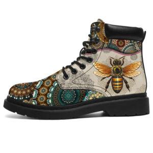 "Bee - Vintage Mandala ASBOOT SKY KD@ animallovepro gdgdfgbee@all-season-boots"" 296608"