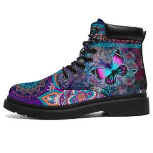 "Butterfly Galaxy Mandala Boot SKY@ animallovepro fgr4645@all-season-boots"" 296148"