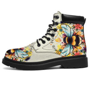 "bee flower watercolor@ animallovepro beeflower949068@all-season-boots"" 295228"