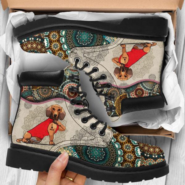 "Dachshund - Vintage Mandala ASBOOT SKY@ animallovepro dfgdg@all-season-boots"" 294730"