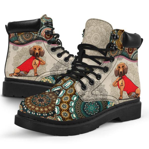 "Dachshund - Vintage Mandala ASBOOT SKY@ animallovepro dfgdg@all-season-boots"" 294725"