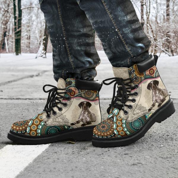 "German Shorthaired Pointer - Vintage Mandala ASBOOT SKY KD@ animallovepro FGHFGJ@all-season-boots"" 294683"