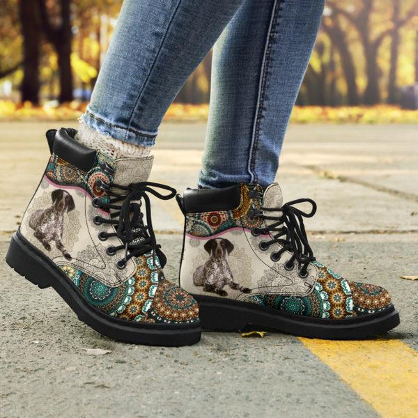 "German Shorthaired Pointer - Vintage Mandala ASBOOT SKY KD@ animallovepro FGHFGJ@all-season-boots"" 294682"