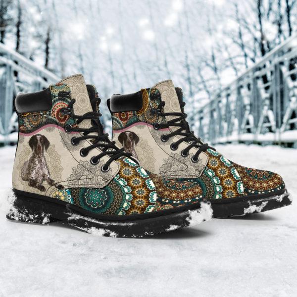 "German Shorthaired Pointer - Vintage Mandala ASBOOT SKY KD@ animallovepro FGHFGJ@all-season-boots"" 294681"