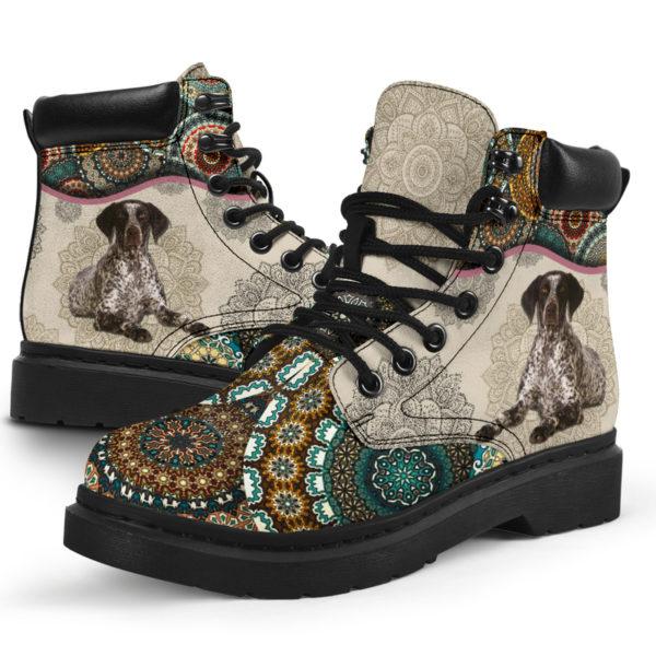 "German Shorthaired Pointer - Vintage Mandala ASBOOT SKY KD@ animallovepro FGHFGJ@all-season-boots"" 294679"