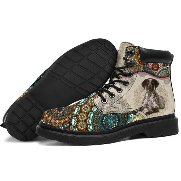 "German Shorthaired Pointer - Vintage Mandala ASBOOT SKY KD@ animallovepro FGHFGJ@all-season-boots"" 294678"