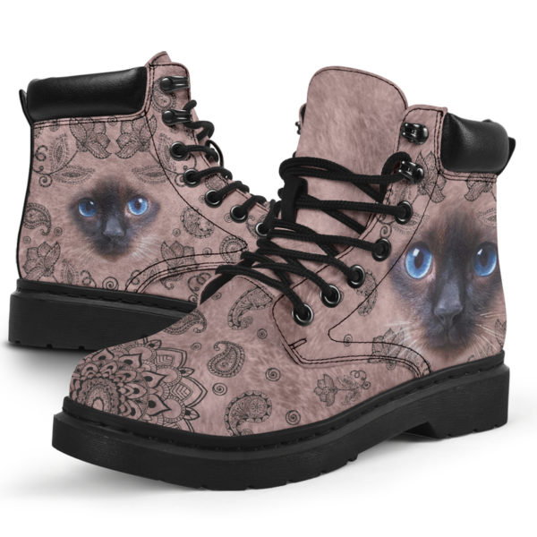 "Siamese cat face paisley asboot - LQT@ animallovepro Siamese565df6@all-season-boots"" 294403"