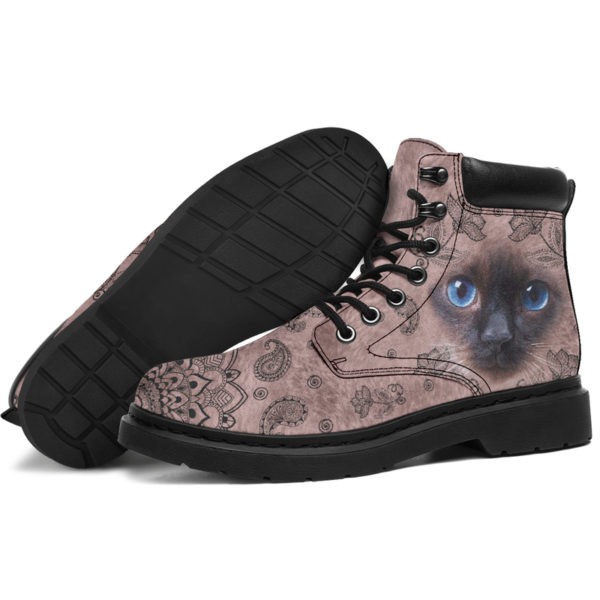 "Siamese cat face paisley asboot - LQT@ animallovepro Siamese565df6@all-season-boots"" 294402"