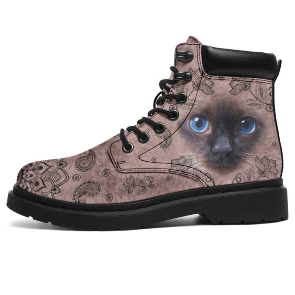 "Siamese cat face paisley asboot - LQT@ animallovepro Siamese565df6@all-season-boots"" 294401"