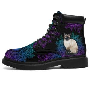 "siamese cat yin yang mandala asboots LQT@ animallovepro catt46723478@all-season-boots"" 294354"