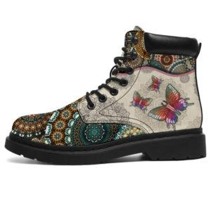 """Butterfly - Vintage Mandala ASBOOT SKY 3@ animallovepro dsgsdgikkiki@all-season-boots"""" 294308"""