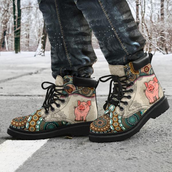 "Pig - Vintage Mandala ASBOOT SKY@ animallovepro dfszd@all-season-boots"" 294039"