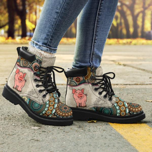 "Pig - Vintage Mandala ASBOOT SKY@ animallovepro dfszd@all-season-boots"" 294038"
